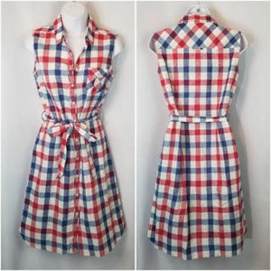 Brooks Brothers Checked Cotton Dress
